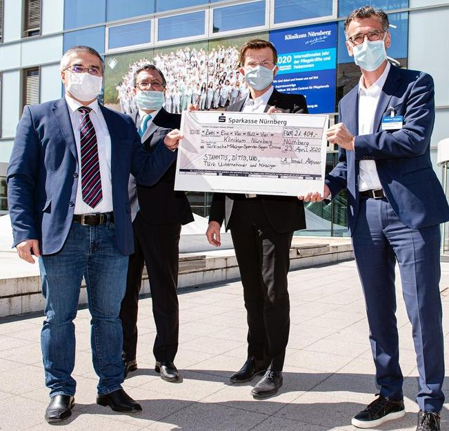 Hastaneye maske için 21.404 euroluk bağış yapıldı.