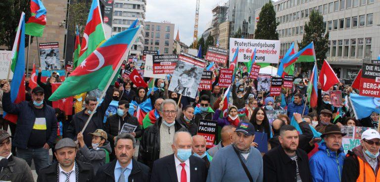 Ermenistan'ın Saldırıları protesto edildi.