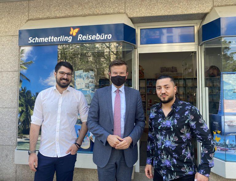 Nürnberg Belediye Başkanı König'den Türk Seyahat ofisini ziyaret
